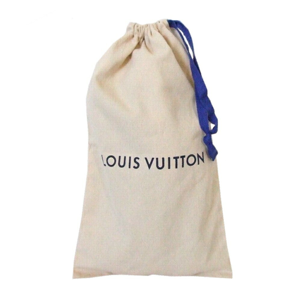美品 Louis Vuitton ルイヴィトン シューズケース (巾着バッグ ロゴ コットン) 110524 【中古】
