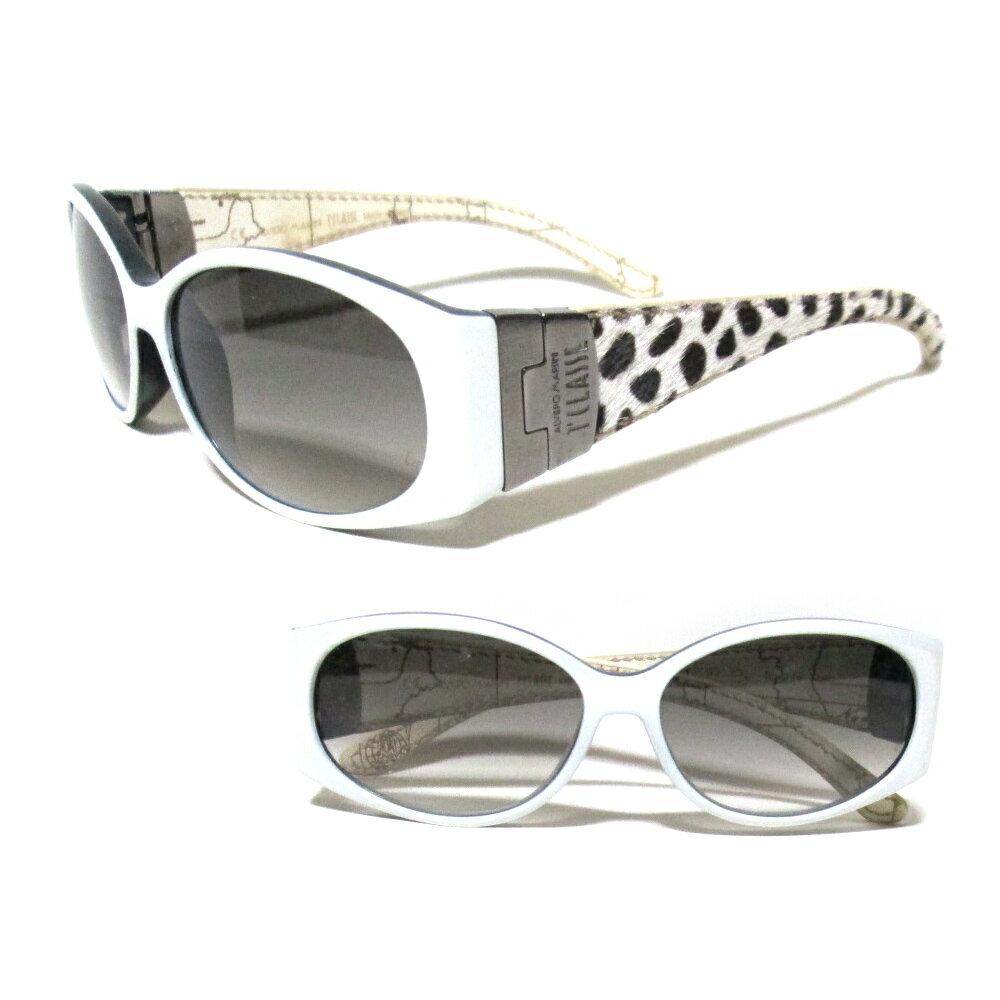 PRIMA CLASSE プリマクラッセ イタリア製 ハラコレザー切替サングラス (白 ハラコレザー 皮 革 メガネ 眼鏡) 110574 【中古】