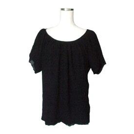 美品 ZUCCA ズッカ レイヤードフレアカットソー (黒 ブラック Tシャツ) 110615 【中古】