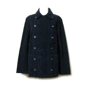LE GLAZIK ル グラジック 「34」 フランス製 コーデユロイピーコート (紺 ワークウエアー Pコート ジャケット) 111035 【中古】
