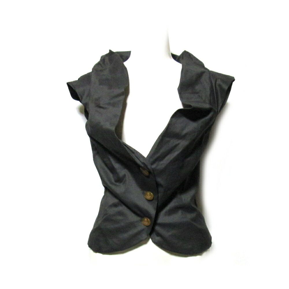 Vivienne Westwood GOLD LABEL ヴィヴィアンウエストウッド ゴールドレーベル 「12」 イタリア製 フリルデザインベスト (ジャケット) 111317 【中古】