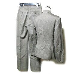Aquascutumアクアスキュータム定番セットアップスーツ(茶色ブラウンパンツイギリス伝統)111859【中古】