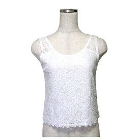 Abercrombie & Fitch A&F アバクロンビー&フィッチ レースカットソー (白 Tシャツ ノースリーブ) 111943 【中古】