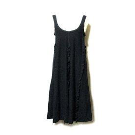 Sonia Rykiel ×H&M ソニアリキエル×エイチアンドエム 「XS」 Aラインフリルワンピース (黒 ドレス) 112149 【中古】