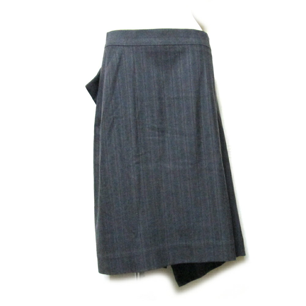 Anglomania Vivienne Westwood アングロマニア ヴィヴィアンウエストウッド 「42」 イタリア製 アシンメトリードレープスカート (グレー) 112998 【中古】