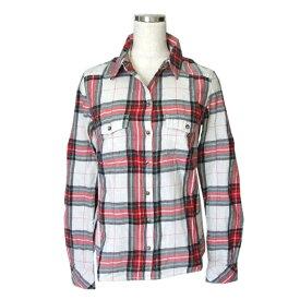 H&M エイチアンドエム タータンチェックネルシャツ (赤) 114125 【中古】