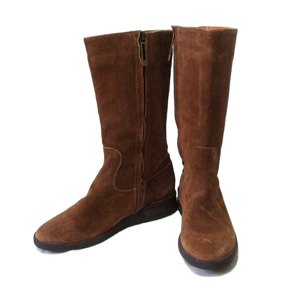 Samsonite サムソナイト イタリア製 レザーエンジニアブーツ (ベージュ 靴 皮 革 サイドジップ) 114653 【中古】