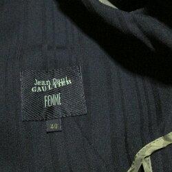 JeanPaulGAULTIERFEMMEジャンポールゴルチエファム「40」2Bテーラードジャケット(黒ギャバジンゴルチェキャバジン)114766【中古】