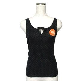 HYSTERIC GLAMOUR ヒステリックグラマー リボンキャミソール カットソー (黒 Tシャツ 半袖) 114902 【中古】