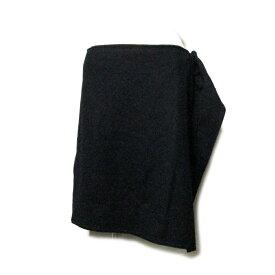 美品 Vivienne Westwood RED LEBEL ヴィヴィアンウエストウッド レッドレーベル 「2」 アシンメトリーフラップスカート (黒 ウール) 115288 【中古】