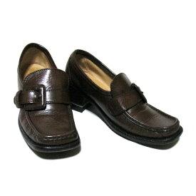 PATRICK COX wannabe パトリックコックス ワナビー 「37 1/2」 イタリア製 ヒールベルトローファー (赤色 エンジ ブラウン 靴 シューズ 皮 革) 115492 【中古】