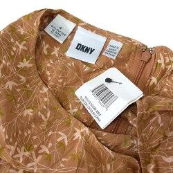 【新古品】DKNYディーケーエヌワイフラワーシルクスカート(ダナキャランニューヨーク絹未使用)116412【中古】