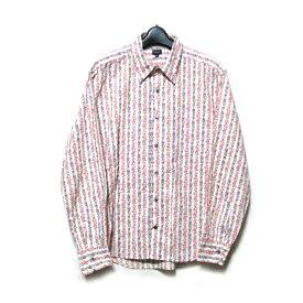 Paul Smith ポールスミス 「XL」 ボタニカルフラワーシャツ (花柄 長袖 カッターシャツ ピンク) 117912 【中古】