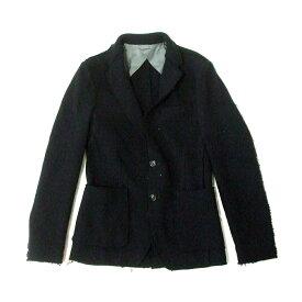 BENETTON ベネトン 切りっぱなしウールジャケット (黒 UNITED COLORS OF BENETTON ユナイテッド カラーズ オブ ベネトン) 118326 【中古】