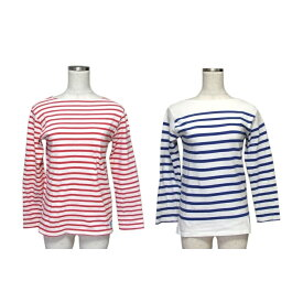 ORCIVAL オーシバル マリンボーダーロンTシャツ 2枚セット (赤 青 フランス) 118340 【中古】