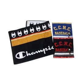【新古品】 Champion チャンピオン バスタオル×1 タオルハンカチk×2 3点セット (スポーツ ロゴ) 118820 【中古】