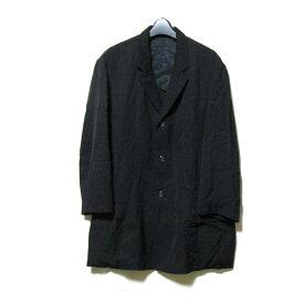 Y's for men ワイズフォーメン 「S」 ワイドシルエット4Bジャケット (黒 ブラック 山本耀司 Yohji Yamamoto POUR HOMME ヨウジヤマモト プールオム) 119026 【中古】