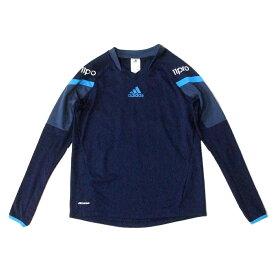adidas アディダス 11pro スポーツTシャツ (紺 ネイビー ロンTシャツ 長袖) 119231 【中古】