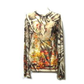 美品 Jean Paul GAULTIER ジャンポールゴルチエ 「40」 パワーネットシースルーボタニカルカットソー (カットソー 長袖 ロンTシャツ) 119280 【中古】