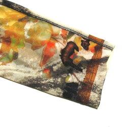 美品JeanPaulGAULTIERジャンポールゴルチエ「40」パワーネットシースルーボタニカルカットソー(カットソー長袖ロンTシャツ)119280【中古】