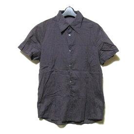 CoSTUME NATIONAL HOMME コスチューム ナショナル オム 「46」 イタリア製 ブレーンシャツ (パープル 半袖 紫) 119798 【中古】