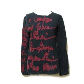 Jean Paul GAULTIER ジャンポールゴルチエ 「40」 フロッキーグラフィック Tシャツ (ゴルチェ 黒 長袖 カットソー) 120174 【中古】