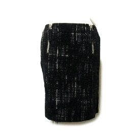 Jean Paul GAULTIER ジャンポールゴルチエ 「42」 グランジフロッキーチャックスカート (ゴルチェ 黒 ブラック ミニスカート) 120181 【中古】