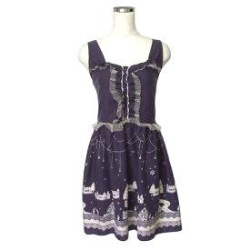 axes femme アクシーズファム 宮廷フリルワンピース (紫 パープル ドレス) 120240 【中古】