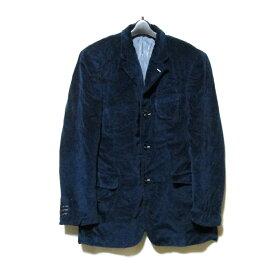 VERSACE ヴェルサーチ 「36/50」 イタリア製 3Bジャケット (紺 ネイビー 製品染め Gianni Versace ジャンニ) 120294 【中古】
