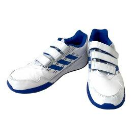 新品同様 adidas アディダス 「21.5」 ベルクロスニーカー (白 キッズ 子供靴 ジュニア) 120514 【中古】