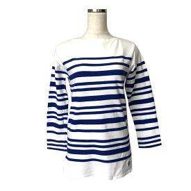 美品 ORCIVAL オーシバル フランス製 マリンボーダーTシャツ (ロング 長袖 ヘビーコットン 定番 伝統) 120660 【中古】