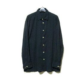 ISSEY MIYAKE MEN イッセイミヤケメン 「M」 オーバーサイズシャツ (黒 ブラック ワイド 三宅一生) 121195 【中古】