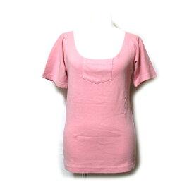 Maison Martin Margiela MM- メゾン マルタンマルジェラ 「M」 フロントポケットTシャツ (MM6 ピンク 半袖 ユニセックス) 121470 【中古】