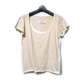 Maison Martin Margiela MM- メゾン マルタンマルジェラ 転写Tボーダーシャツ (半袖 白) 121476 【中古】