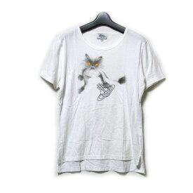 Vivienne Westwood MAN ヴィヴィアンウエストウッド マン 「46」 キャットオーブTシャツ (白 半袖 ネコ ORB) 121492 【中古】