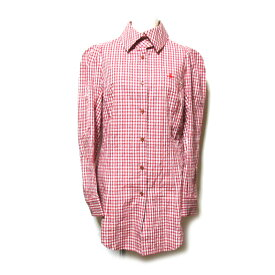 美品 Vivienne Westwood ヴィヴィアンウエストウッド 「3」 タータンチェック縮絨ワンオーブブラウス (ORB シャツ 赤) 123154 【中古】