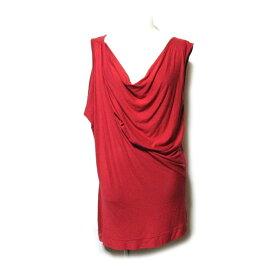 Anglomania Vivienne Westwood アングロマニア ヴィヴィアンウエストウッド 「M」 イタリア製 アシンメトリードレープカットソー (シャツ 赤 ) 123155 【中古】