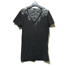 L.G.B. ルグランブルー 「1」 スカルグランジTシャツ (半袖 マニアック ドクロ 黒) 123165 【中古】