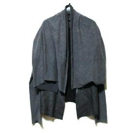 L.G.B. ルグランブルー 「2」 レザー×スエットショールジャケット (黒 革 皮) 123183 【中古】