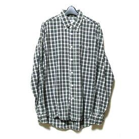 A BATHING APE ア ベイシング エイプ 「L」 タータンチェックワンポイントシャツ (グリーン) 123382 【中古】
