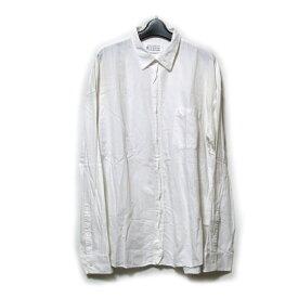 Maison Martin Margiela 10 メゾン マルタンマルジェラ 定番 スタンドカラーシャツ (白) 123402 【中古】