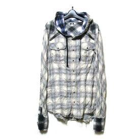 L.G.B. ルグランブルー 「1」 フーデッドタータンチェックネルシャツ (パーカー) 123935 【中古】