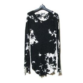 L.G.B. ルグランブルー 「1」 クラッシュ斑染ロンTシャツ (LGB エルジービー カットソー 黒) 123967 【中古】