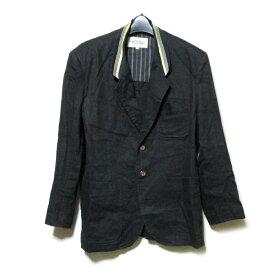 Vintage monsieur NICOLE ヴィンテージ ムッシュ ニコル 「M」 ニットカラージャケット (黒 麻) 124230 【中古】