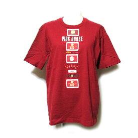 Vintage PINK HOUSE ヴィンテージ ピンクハウス ワッペンタグTシャツ (赤 半袖 ロゴ) 124945 【中古】