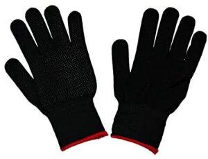 すべり止め付き手袋 2双(1双×2) 伸縮タイプ Mサイズ ブラック【メール便・送料無料】ポケット