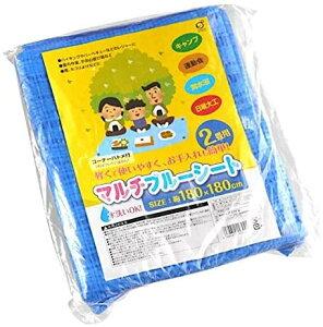 ブルーシート 180×180cm ハトメ付 2枚セット【メール便・送料無料】オカザキ
