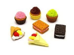 ケーキケシゴムNO3 7個セット (7種×各1個)【メール便送料無料】イワコー おもしろ消しゴム