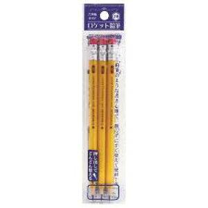 六角軸ロケット鉛筆 2B 3本入 レモン【メール便送料無料】