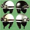 깊게 물 드는에서 키 친! 고글 및 귀 덮개 빈티지 하프 헬멧 ☆ SPEED PIT (스피드 구 덩이) CL-950/자전거 헬멧